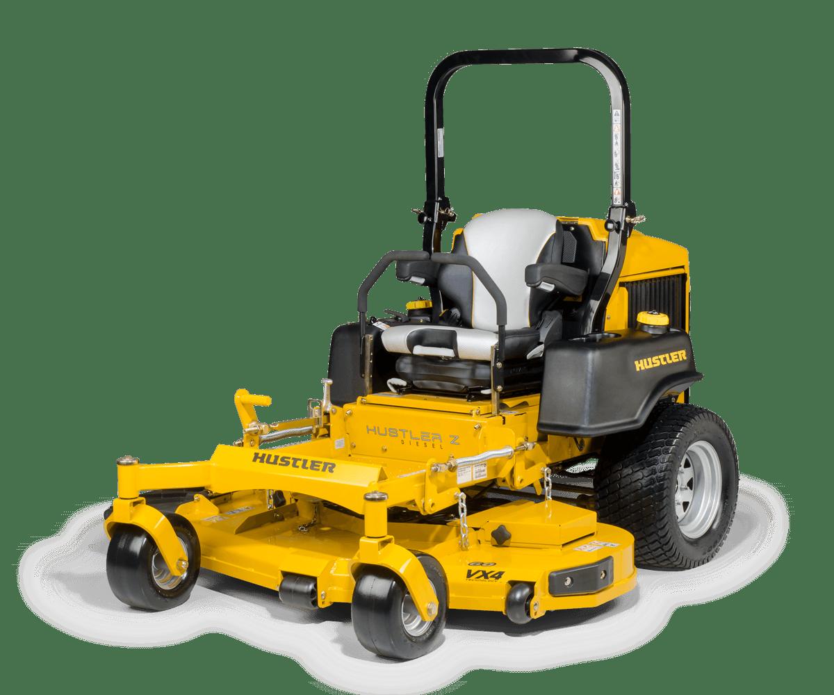טרקטורון כיסוח דשא תעשייתי - דגם Hustler Z Diesel